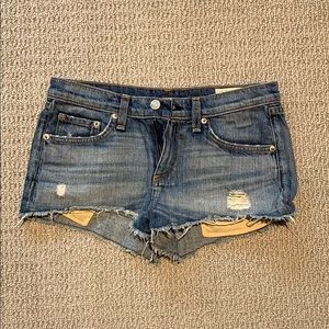 Rag & bone cut off shorts - size 25
